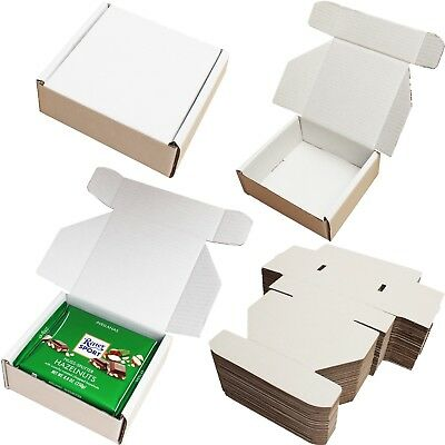 "6"" x 6"" x 2.5"" WHITE SHIPPING STORAGE BOXES CARDBOARD POSTAL GIFT SMALL PARCEL"