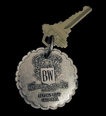 Antique Brass Key Fob Beverly Hills California Beverly Wilshire Hotel Hollywood