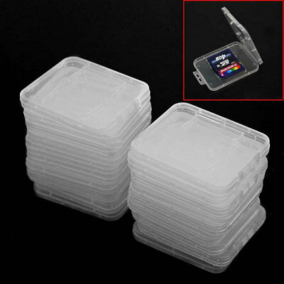 20x Plastic Clear SD/SDHC Memory Card Storage Case Box Protecter Holder Organize