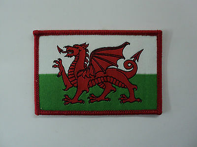 Welsh Dragon Wales woven Patch Badge Welsh flag