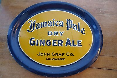 Old Jamaica Pale Dry Ginger Ale serving tray, John Graf Co, advertising, soda