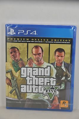 NEW PS4 GTA5 Grand Theft Auto 5 GTAV GTA V (HK CHI/ ENG Premium Online Edition)