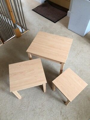 Pine Nest Of Tables X 3