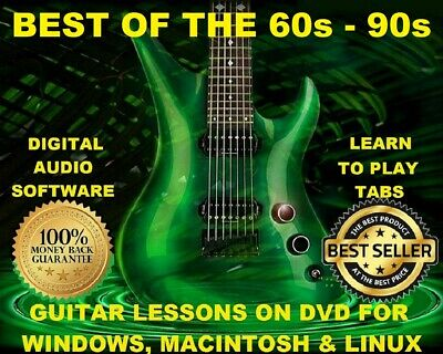 Best of The 60s - 90s 1200 Guitar Tabs Software Lesson CD & Free Mega Bonuses