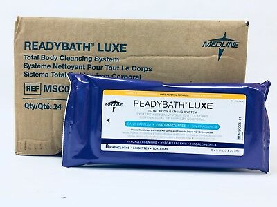 ReadyBath LUXE Medline Total Body Cleansing Heavyweight Washcloths Case 192 ct