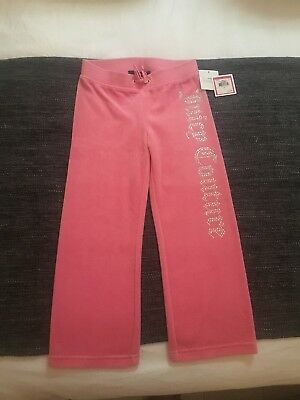 Girls Genuine Pink Juicy Couture Velour Tracksuit Bottoms Age 5yrs