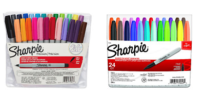 SHARPIE Permanent Markers Assorted Color 24 Pack fine Point 24 Pack Ultra Fine