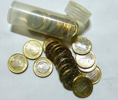 €30 Spendable Currency Euro €1 Coins Travel Vacation Money in Pocket Purse Tube