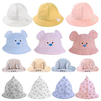 b315a5e7c22 Spring Summer Baby Hats for Girls Boys Cotton Breathable Toddler Infant Sun  Caps