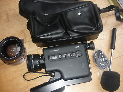 Nizo Integral 7 super 8 camera with wide angle lens and case