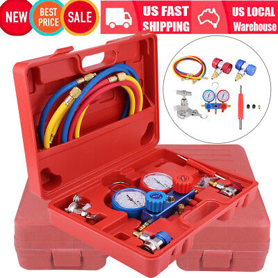 Air Conditioning AC Diagnostic Manifold Gauge Car Truck Refrigeration Test Tools