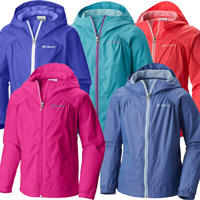 "New Girls Columbia ""Switchback"" Water-Resistant Reflective Rain Jacket S-M-L-XL"