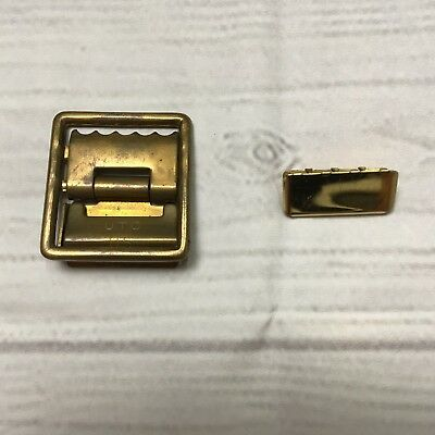 USMC Marine Corps Military (US UTC) Brass Open Faced Belt Buckle And Tip