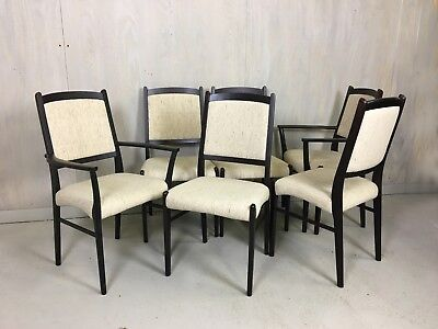 Set of Six Danish Modern Rosewood Dining Chairs by Dyrlund