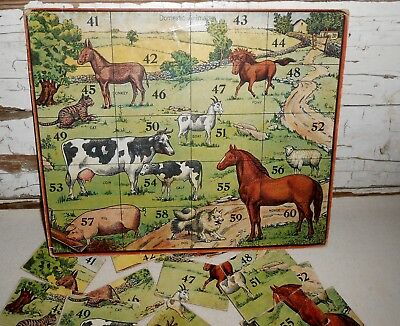 Vintage Domestic Animals Puzzle, Vintage FarmHouse Decor