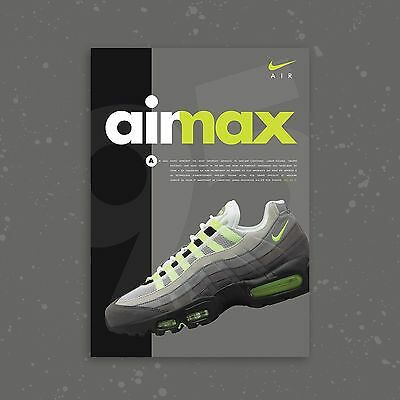 Nike Air Max 95 Volt Neon OG A2 Limited Edition Sneaker Poster Art Print