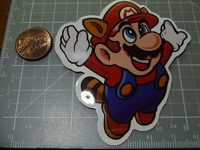 FLYING MARIO  GLOSSY Sticker/ Decal Bumper Stickers Actual Pattern NEW