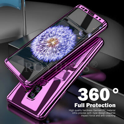 For Samsung Galaxy S8 S9 Plus 360° Shockproof Full Body Hybrid Hard Case Cover