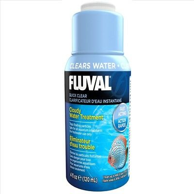 Fluval Quick Clear 120ml - Cloudy Water Treatment (Flocculate)