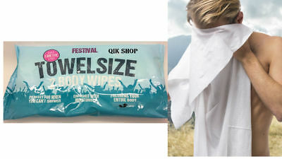 Festival Towel Size Body Wipes Over 1 Meter Long 2 Wipes in Pack