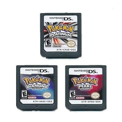 Pokemon Diamond Pearl Platinum Version Game Card For 3DS NDSI NDS NDSL Nintendo