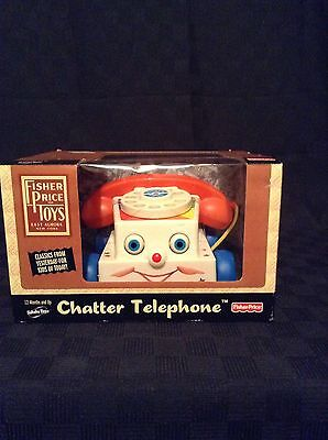 NIB 2005 Fisher Price Preschool Child Pull Toy Chatter Telephone Call Ring Play