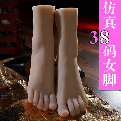 Silicone Female Feet Shoes Displays Model Feet Lifelike Mannequin Feet Props
