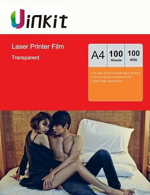 A4 Overhead Project OHP Film Clear for Laser Printer 210X297Uinkit - 100 Sheets