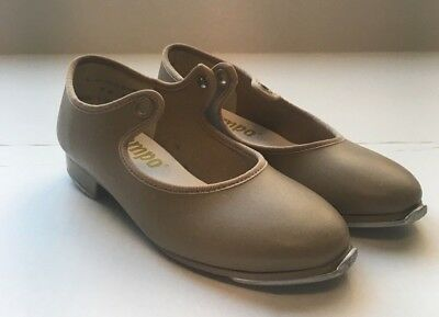*TEMPO* BY Leo's Girl's sz 9m Tan Tap Shoes