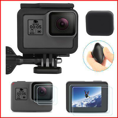 GoPro HERO 7 Black Protective Frame Housing Case Shell Mount with Soft Lens Cap