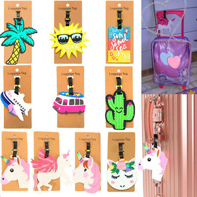 Unicorn Luggage Tag Creative Suitcase ID Address Holder Baggage Boarding Tags