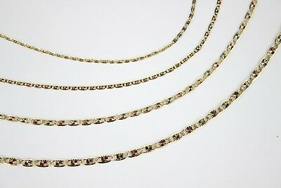 7b3d30ac84c96 14K SOLID TRI Color Gold 2.1 mm Star Valentino Chain Necklace 16