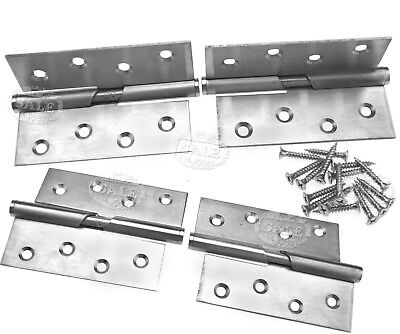 "Pair of Rising Butt Left/Right Handed Lift Off Door Hinge 4"" Stainless Steel MM"
