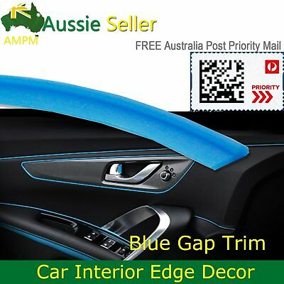 8M Blue Car Dashboard Door Side Line Decorate Moulding Gap Trim Decoration Strip
