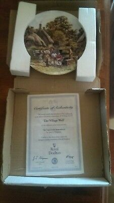 Royal Doulton 'The Village Well' Plate