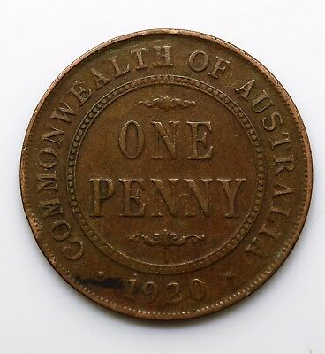1920 Australian Penny - George V - Dots unknow