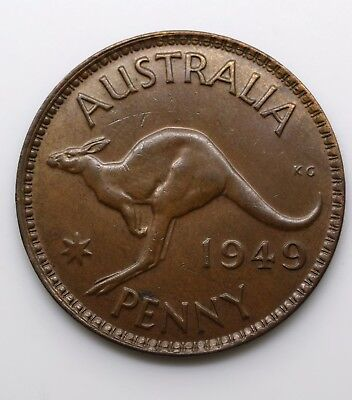 "1949 Australia 1One Penny - George VI without ""IND:IMP"""