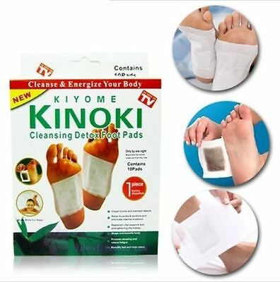 10Pcs Detox Foot Pads by KINOKI Kiyome for Cleansing Feet As Seen on TV