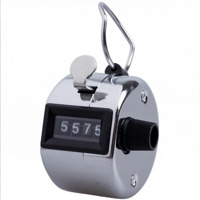 Hand Held Clickers - Chrome number people Tally Counter
