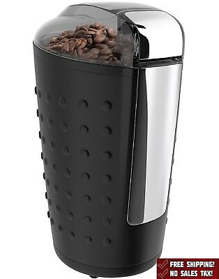 Herb Coffee Grinder Electric Stainless Steel Blades Spices Nuts 150W Black New