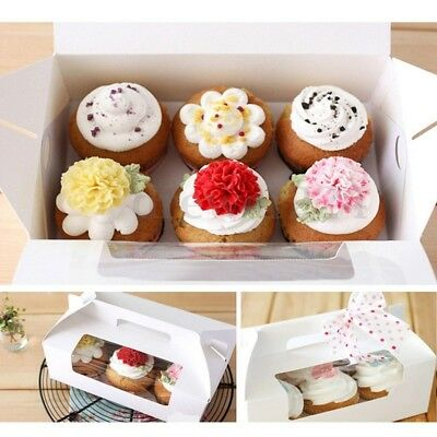1/2/4/6/12 Holes Paperboard Cupcake Box Window Face Party Baking Wedding Gift