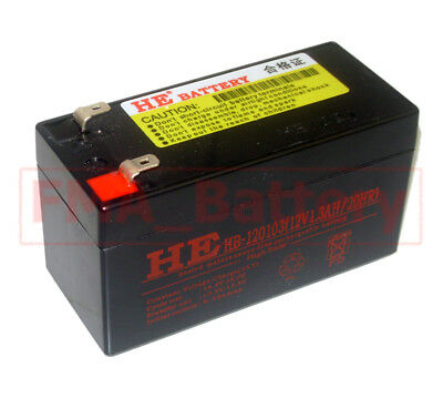 12V 1.3Ah UPG UB1213D5738 SLA Sealed Lead Acid Battery to Loudspeaker Amplifie