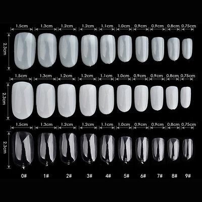 600X Tips Ronde Capsules Faux Extension Ongle Gel UV Acrylique Manucure Nail Art