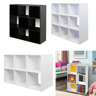 6 9 Cube Kids Toy Storage Unit Chest Drawers Bookcase Box Childrens Game/Bedroom  sc 1 st  PicClick UK & 6/9 CUBE KIDS Black/White Toy/Games Storage Unit Bedroom Shelves For ...