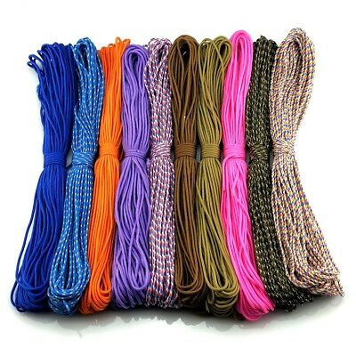 New! 50-100FT One Stand 2mm Paracord Parachute Cord Tent Lanyard Rope 25 colors