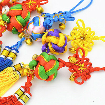 Lucky Chinese Knot Hanging Decoration Accent Colors Ball Pendant Meaningful 1pc