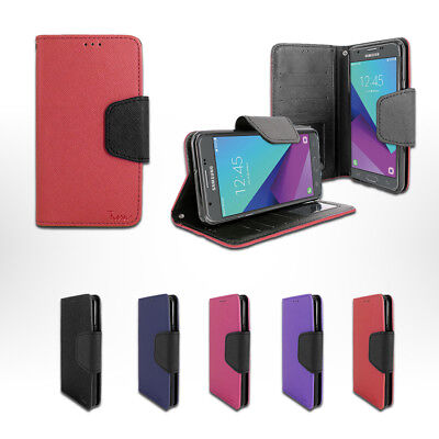 For Samsung Galaxy J7 Sky Pro S727VL Card Holder Wallet Leather Stand Case Cover