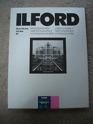 Ilford Multigrade IV 12 X16 50 Sheets Glossy Darkroom Paper.