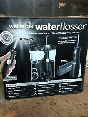 Water Piks Cordless Ultra Water Flosser Portable Rechargeable Counter (open box)