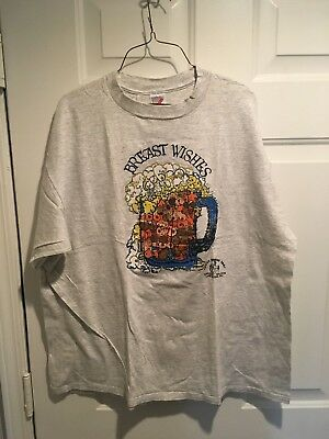 """CRAZY HORSE TOO  SALOON, Vegas, Vintage T-shirt, XXL, """"BREAST WISHES"""" 022"""